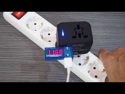 Enchufe Adaptador Universal de viaje con dos puertos USB - DryCom