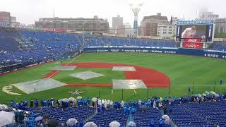2018.6.10横浜DeNA対北海道日本ハム樽美酒研二降雨コールドによる試合終了後、ベースランニングのパフォーマンス