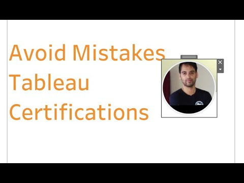 Top 5 mistakes on Tableau Certifications (my Take) - YouTube