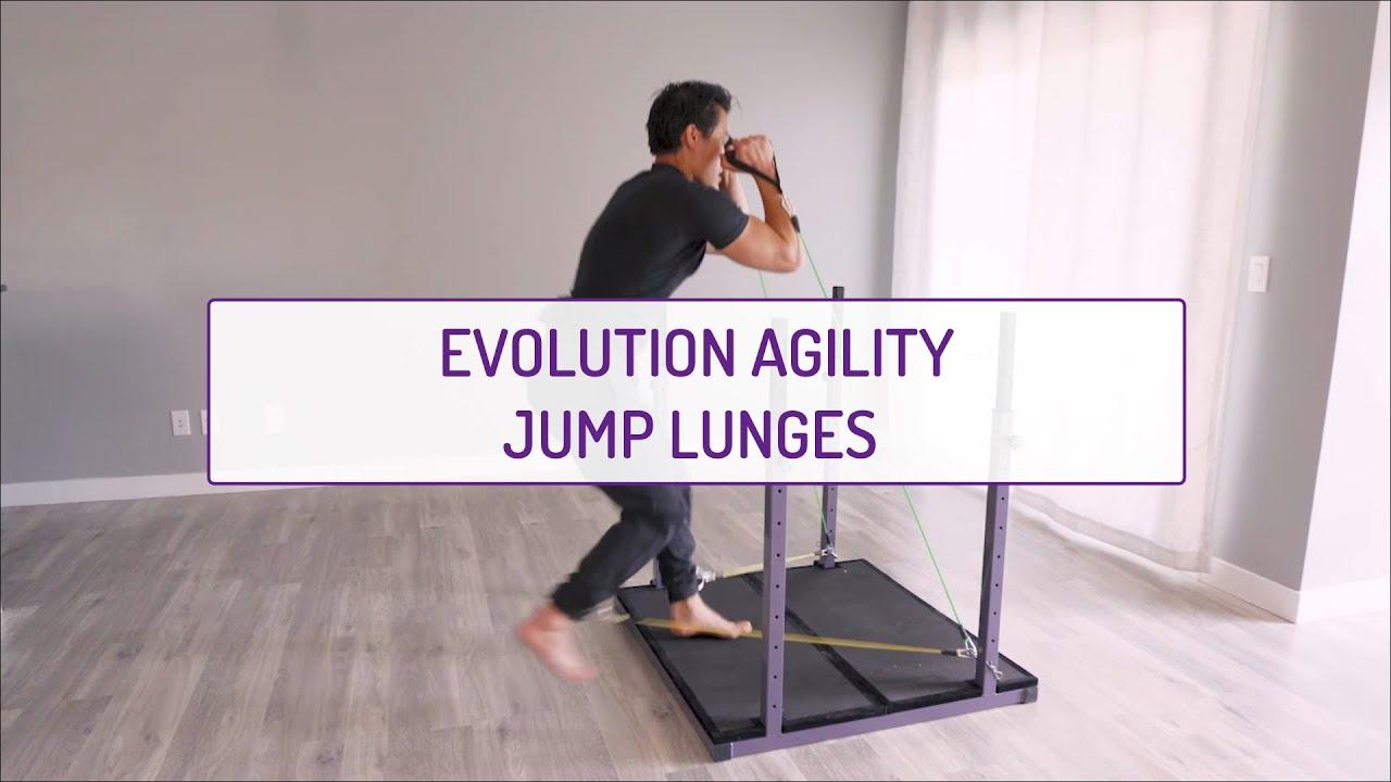 Evolution Agility Jump Lunges