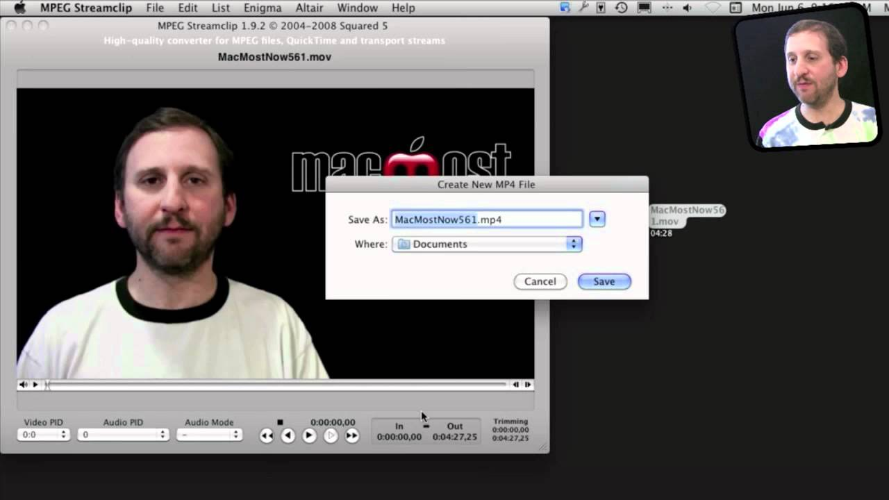 1.9.2 TÉLÉCHARGER MPEG STREAMCLIP