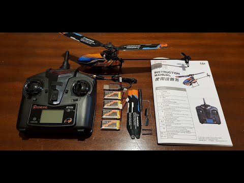Banggood Eachine E119 2.4G 4CH 6-Axis Gyro Flybarless RC Helicopter RTF - Unboxing only