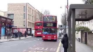 preview picture of video 'Route 32 London Buses At Kilburn Park 4 April 2015'