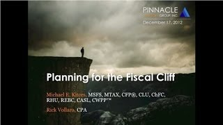 Planning for the Fiscal Cliff
