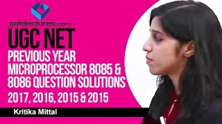 UGC NET Previous year Microprocessor 8085 & 8086 Question Solutions 2017 2016 2015 & 2014