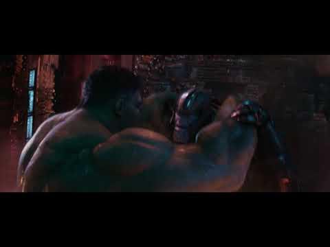 Hulk vs Thanos - Fight scene HD