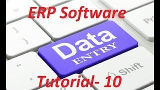 ERP Software Full Bangla Tutorial  || Data Entry Lesson- 10||