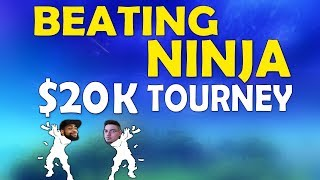 BEATING NINJA IN A 20K TOURNAMENT | DUO With CAMILLS VS NINJA & COURAGEJD  (Fortnite Battle Royale)