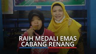 Kisah Athikah Maharani Liamdas, Penyandang Down Syndrome Raih Medali Emas Cabor Renang