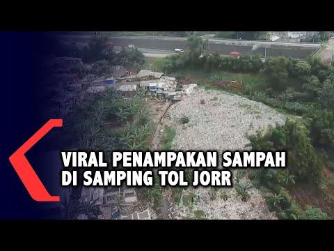 Viral Penampakan Sampah di Tol Jorr, Bekasi