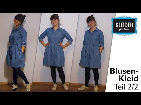 Blusenkleid selbst nähen // Jeanskleid (Teil 2/2)