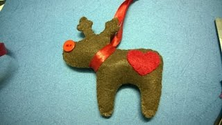 DIY Christmas Ornaments - Reindeer Felt Christmas Craft For Kid
