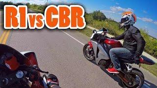 Yamaha R1 vs Honda CBR1000RR - 150mph+ (w/ DoItWithDan)