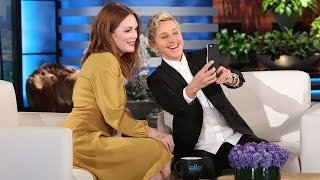 Julianne Moore And Ellen Are Snap(chat) Happy!
