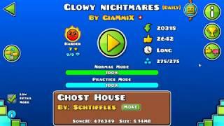 [GD] GLOWY NIGHTMARES BY GIAMMIX (DAILY LEVEL) | GEOMETRY DASH 2.11