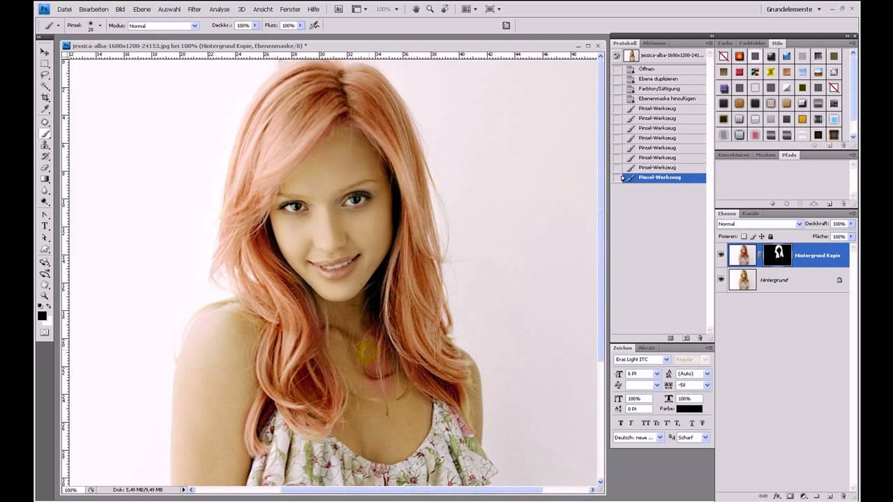 Haarfarbe ändern (Retusche-Serie Teil 2) – Photoshop-Tutorial