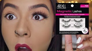 Trying Magnetic Eyelashes For The First Time | Ardell Magnetic Lashes