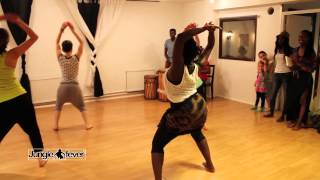 African dance with live drums -  Choreo by Recheal junglemoves