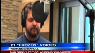 """Man sings """"Let It Go"""" in voices of 21 Disney characters"""