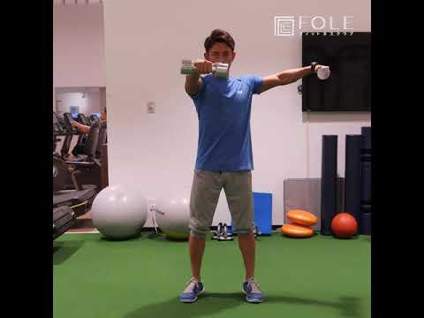 【肩に効く!】ダンベルを使った肩(前部・中部)トレーニングのご紹介です!