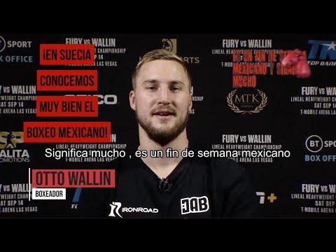¡En Suecia conocemos bien el boxeo mexicano! #FuryWallin
