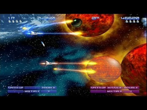 Gradius V Full Game Run ( 2 Player Mode - Zero & Sakura )