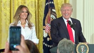 Pres. Trump and First Lady Melania Trump Celebrate Mother