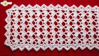 Festive Table Runner Crochet Pattern - Looks Fancy, Easy Pattern!