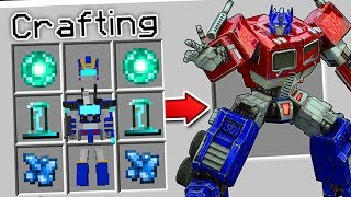 CRAFTING A TRANSFORMER IN MINECRAFT?!... (*ACTUALLY WORKS*)