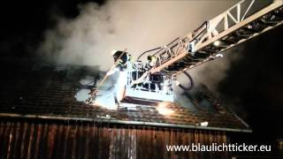 preview picture of video '2015_01_07 Lautrach: Stadel im Ortskern in Vollbrand'