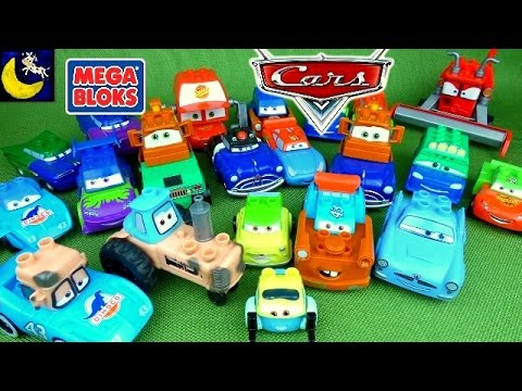 LOTS of Disney Cars Mix and Match Mega Bloks Toys Dinoco King Lightning Mcqueen Mater Toys and MORE!