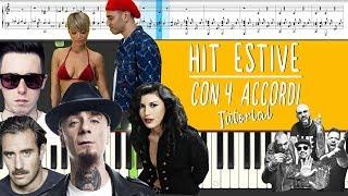 Tutte Le HIT ESTIVE Con 4 ACCORDI (Piano Tutorial)