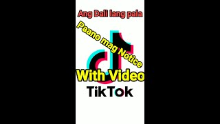 How to Notice Tiktok Follower's comment with Video   Paano mag NOTICE sa Tiktok