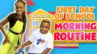 YAYA AND DJ BACK TO SCHOOL MORNING ROUTINE
