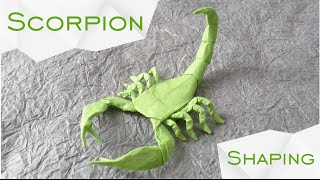 Origami Scorpion By Robert J Lang TUTORIAL Shaping