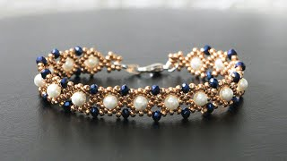 Simple Pearl Beaded Bracelet Tutorial. How To Make Jewelry