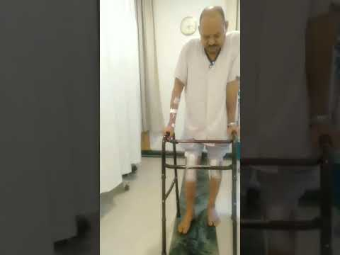 Patient walking confidently after both knee replacement surgery- Dr. Gaurav Gupta