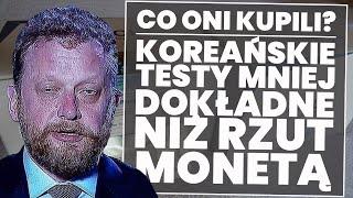USZI: Koreańskie testy mniej dokładne niż rzut monetą!