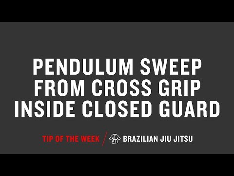 Pendulum Sweep From Cross Grip Inside Closed Guard