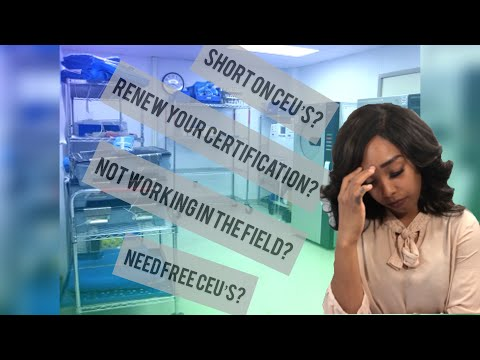 Free CEU'S for Sterile Processing Technicians - YouTube