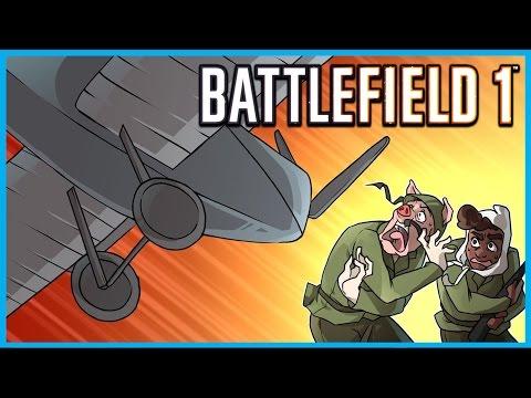 Battlefield 1 Funny Moments! - Syringe Kills, Melee Fail Rage, Tornado Plane of Death, Kolibri!