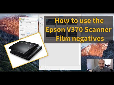Scanning film negatives using the Epson V370 Scanner and Software Tutorial