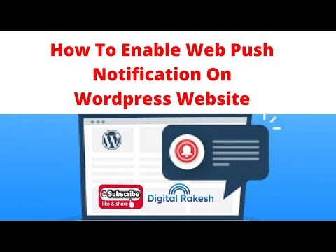 How to enable web push notification on wordpress website
