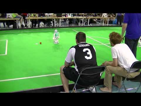 Watch Grown Men Shout Like Angry Parents At Their Automated Soccer Robots