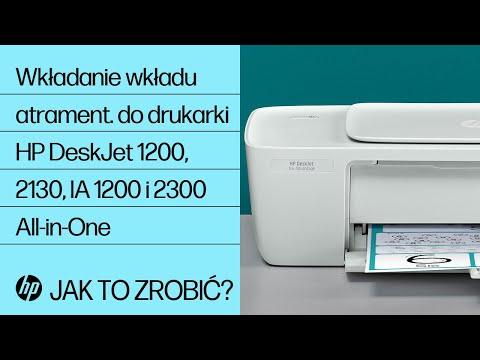 Wkładanie wkładu atramentowego do drukarki serii HP DeskJet 1200, 2130, Ink Advantage 1200 i 2300 All-in-One