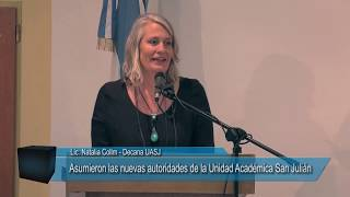 Lic. Natalia Collm - Asunción autoridades de la UASJ