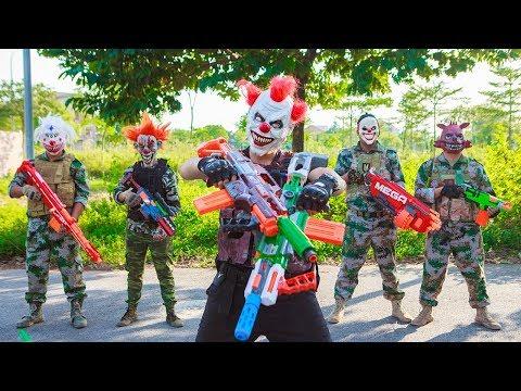 NERF WAR : Dangerous Task SWAT Warriors Fight Criminal Group Mask Nerf Guns