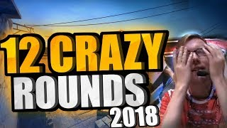 12 CRAZY CS:GO PRO ROUNDS OF 2018!