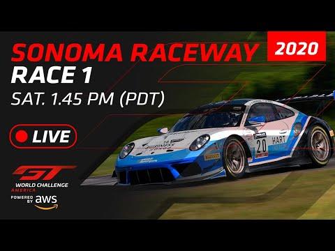 2020年 ブランパンGTワールドチャレンジ・アメリカ(ソノマ) レース1ライブ配信動画