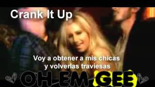 ☮  Crank It Up  Ashley Tisdale (spanish version) Lyrics thequeenmine :D
